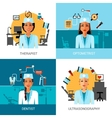 medical workers concept set vector image vector image