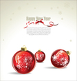 New Year or Christmas background vector image