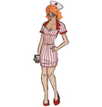nurse pin up vector image vector image