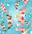 pattern beautiful butterflies vector image vector image