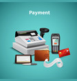 payment realistic composition vector image vector image