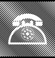retro telephone sign icon hole in moire vector image vector image