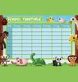 school timetable design vector image