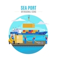 Sea Port Template vector image