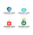 Security logo design template on pack