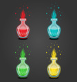 Set bottles with different potions-8 vector image vector image
