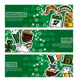Set of Horizontal Banners StPatricks Day vector image