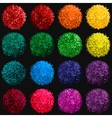 set with colorful pompon vector image vector image