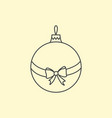 simple christmas tree ball with ribbon and bow vector image vector image