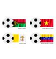 Soccer Ball with Vanuatu Vietnam Vatican Flag vector image vector image
