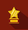 star award icon flat vector image vector image