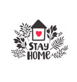 stay home heart vector image