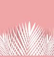tropical palm leaf on pink background vector image vector image