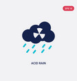 two color acid rain icon from ecology