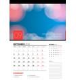wall calendar planner template for september 2018 vector image