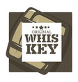 whiskey house brand isolated icon wooden barrel vector image vector image