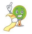 with menu ping pong racket mascot cartoon vector image