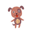 cute soft puppy plush toy stuffed cartoon dog vector image