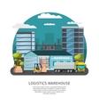 Warehouse Logistics Design vector image