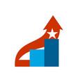 career ladder logo steps sign climbing emblem vector image