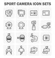Sport Camera Icon vector image