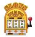 slot machine icon vector image