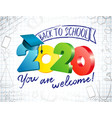 2020 colored back to school 3 d vector image vector image