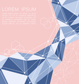 Abstract geometric background with polygon vector image vector image