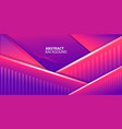 abstract shapes with magenta gradient background vector image vector image