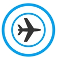 Airport Rounded Icon vector image vector image