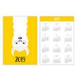 alpaca llama upside down simple pocket calendar