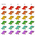 Animation of six funny dinosaurs walking vector image vector image