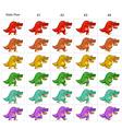 animation six funny dinosaurs walking vector image vector image