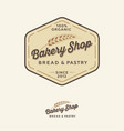 bakery logo bread shop emblem lettering spikelet vector image vector image