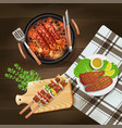bbq grill realistic vector image