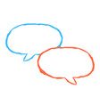 blank speech bubble sign drawing by paint brush vector image
