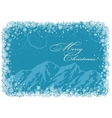 Blue Christmas background with mountains vector image vector image