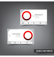 Business Card template set 034 clear style dot vector image vector image