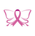 butterfly fly ribbon vector image