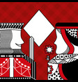 casino poker queen and king diamond card game red vector image vector image