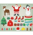 Christmas decoration elements with Santa Claus vector image vector image