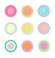 circle colored paper with shadow vector image vector image