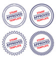 circle stamp template security design vector image
