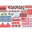 collection of 25 seamless ethnic patterns for vector image vector image