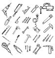 Construction tool icon collection vector image vector image