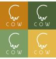 cow monogram vector image