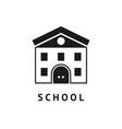 digital black school icon vector image