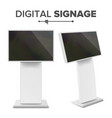 digital terminal with touch screen vector image vector image