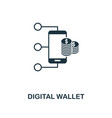 digital wallet icon line style icon design from vector image vector image