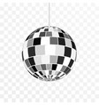 disco ball icon symbol nightlife retro disco vector image